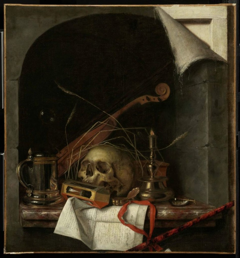 Vanitas Still Life Cornelis Norbertus Gijsbrechts, Flemish, circa 1659-1675 (oil on canvas) Museum of Fine Arts, Boston