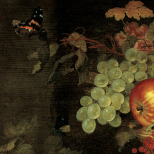 Close-up of Still Life with Basket of Fruit