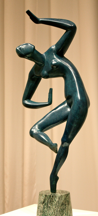 Alexander Archipenko, Ukrainian, modeled 1913-18, cast after 1961 (bronze with blue patina, marble base) North Carolina Museum of Art, Raleigh, North Carolina