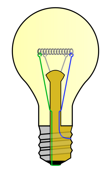 Diagram of Incandescent Light Bulb