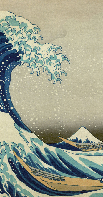 Great Wave off Kanagawa close-up