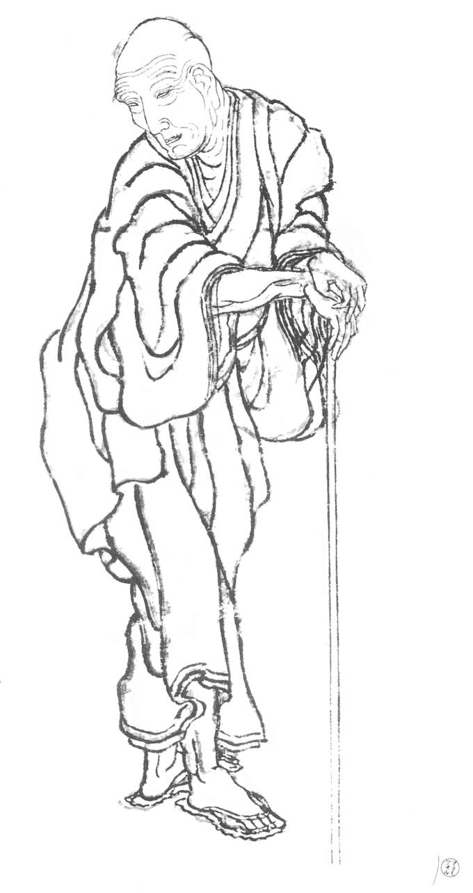 Katsushika Hokusai, 1839 self-portrait