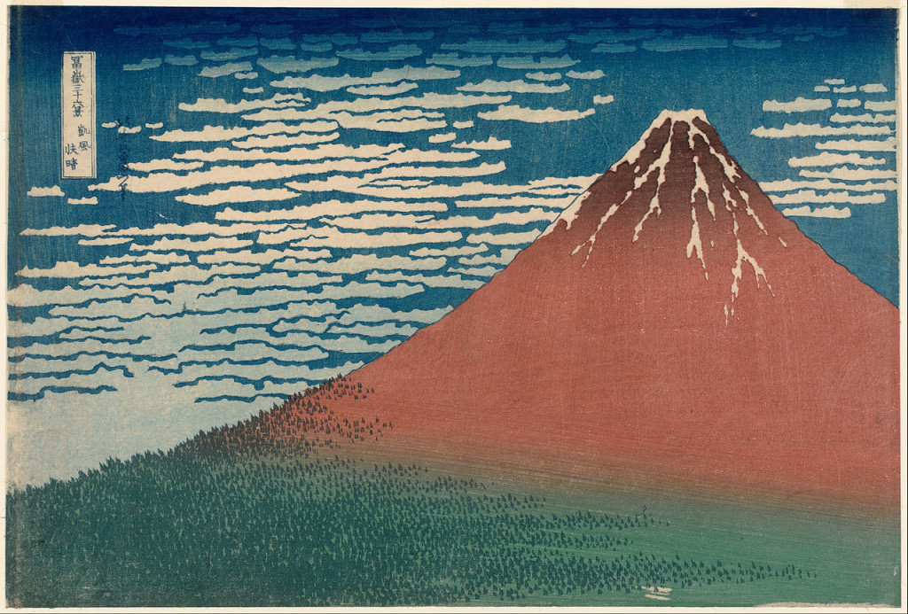 Red Fuji, Katsushika